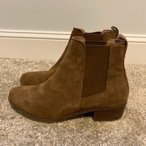 Women's Steve Madden Dover Boot, Cognac Suede 6.5
